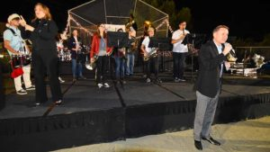 District music director Russ Sperling introduces his San Diego Youth Pride band. Photo by Ken Stone