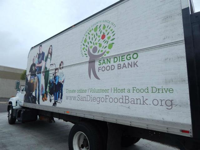 A San Diego Food Bank truck.