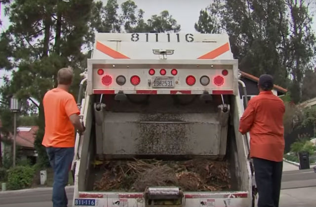 A city of San Diego refuse collection crew. Courtesy Department of Environmental Services