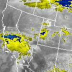 National Weather Service infrared satellite photo at 10:15 a.m. shows second of two storms approaching from the northwest.