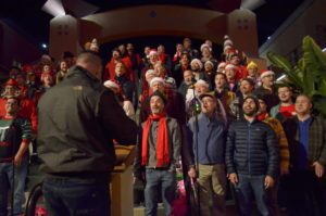 The San Diego Gay Men's Chorus performed in front of about 300 participants in Hillcrest. Photo by Chris Stone
