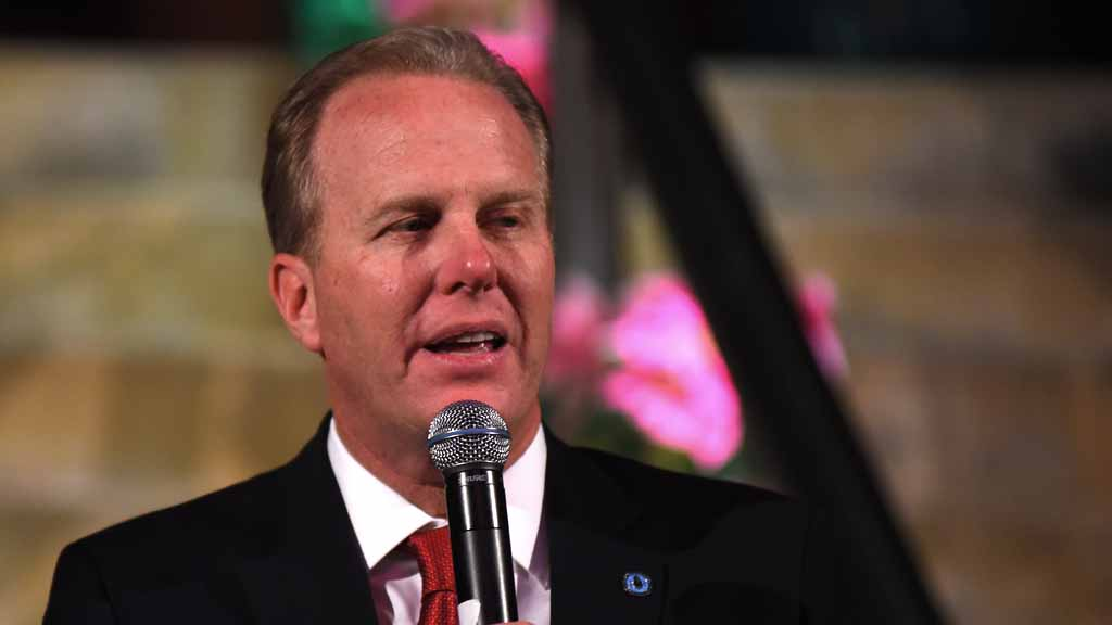 San Diego Mayor Kevin Faulconer praised the work San Diegans have done to research HIV and treat those affected.