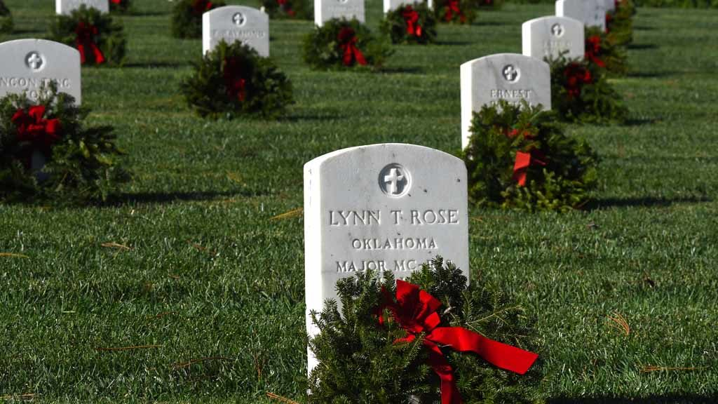 Image result for cemetery wreaths