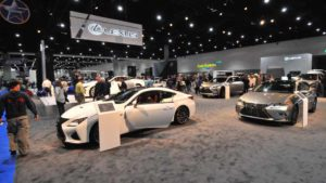 Thousands of people are visiting the San Diego International Auto Show. Photo by Chris Stone