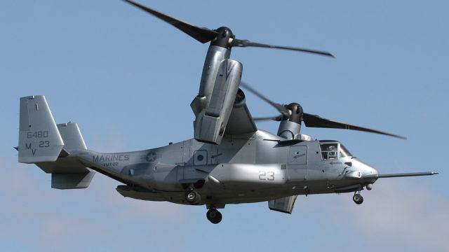A Marine Corps MV-22 Osprey tiltrotor aircraft. Photo: U.S. Marine Corps