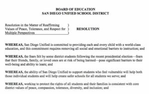 Dec. 6, 2016, San Diego Unified School District board resolution (PDF)