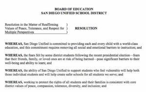 Dec. 6, 2016, San Diego Unified School District board resolution (PDF)