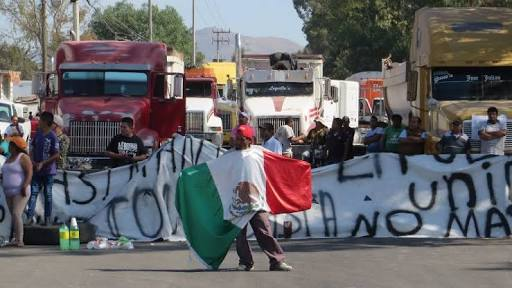 Protests in Mexico over rising gasoline prices. Photo: @gcthjesus/Twitter