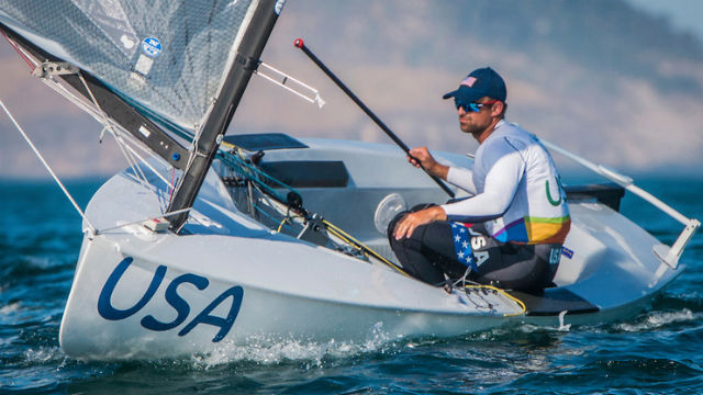 Caleb Paine at the 2016 Olympic Games in Rio de Janeiro. Photo by Daniel Forster/USSailing
