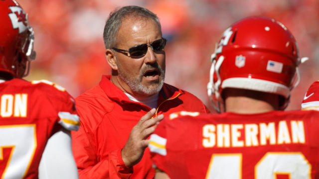 Kansas City Chiefs special teams coordinator Dave Toub.  Jeff Moffett/Icon Sportswire