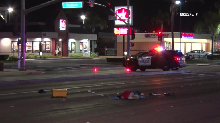 An El Cajon Police cruiser at the scene of the officer-involved shooting. Courtesy OnScene.TV