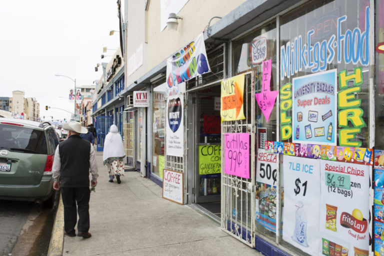 The corner of University Ave. and 42nd St. in City Heights, among the neighborhoods with the highest proportion of residents living below the poverty line. Jan. 3, 2017. Megan Wood, inewsource.