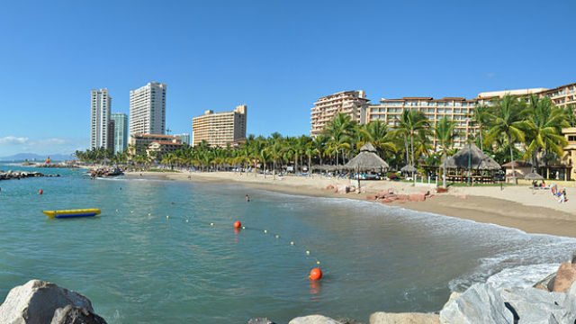 Condominiums and hotels in Puerto Vallarta. Photo via Wikimedia Commons