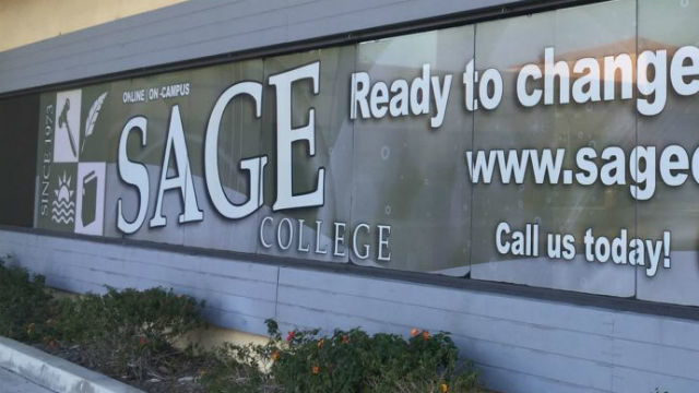 A Sage College sign. Courtesy of the college