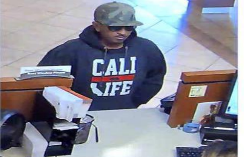 A man suspected of robbing a series of banks is shown in this surveillance photo. Courtesy of FBI