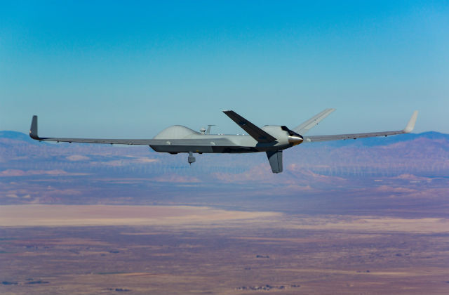 A SkyGuardian version of the Predator series in flight. Courtesy General Atomics Aeronautical Systems