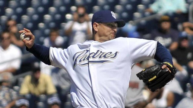 Trevor Hoffman, pitching for the San Diego Padres. Photo via Wikimedia Commons