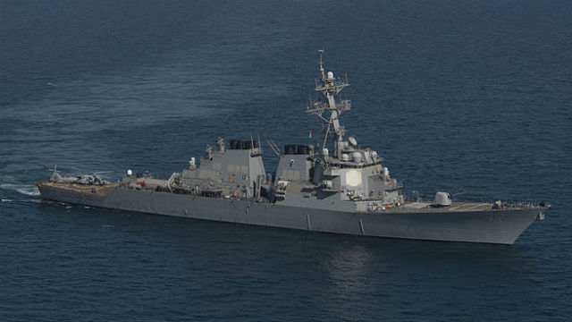 The USS Mahan in 2014. Navy photo via Wikimedia Commons