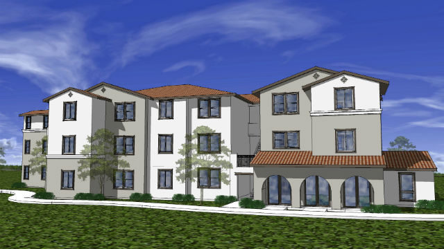 A rendering of the VillaStoria project in Oceanside.