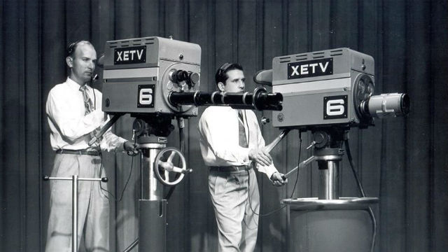 XETV Channel 6 cameras in the 1950s.