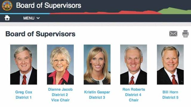 San Diego County Board of Supervisors. Image via sandiegocounty.gov