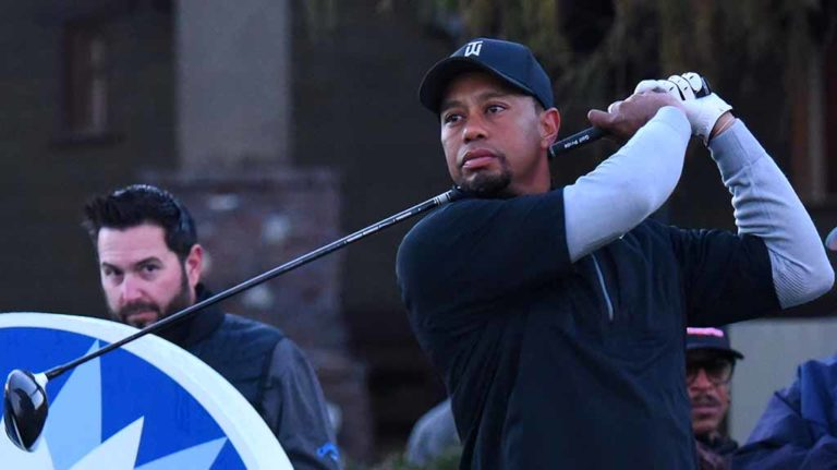 Eyes were on Tiger Woods at Torrey Pines Golf Course as he made his regular-season return to PGA. Photo by Chris Stone