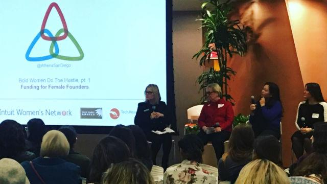 Cheryl Goodman's session on funding for female technology entrepreneurs.