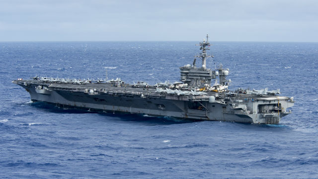 The USS Carl Vinson in the Philippine Sea earlier this month. Navy photo