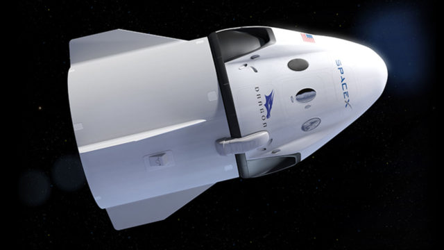 The Crew Dragon human-rated spacecraft. Courtesy SpaceX