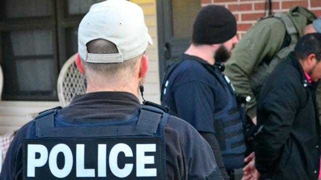 A deportation raid. Courtesy ICE