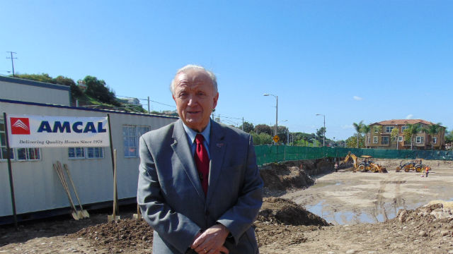 MTS Chairman Harry Mathis at the site of the apartment project. Photo by Chris Jennewein
