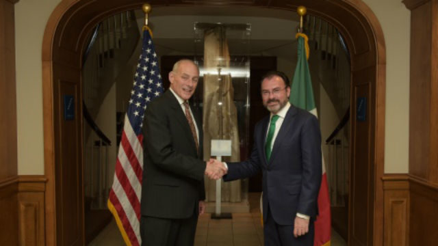 Secretary of Homeland Security John Kelly (left) with Mexican Secretary of Foreign Relations Luis Videgaray Caso. DHS Photo/Jetta Disco