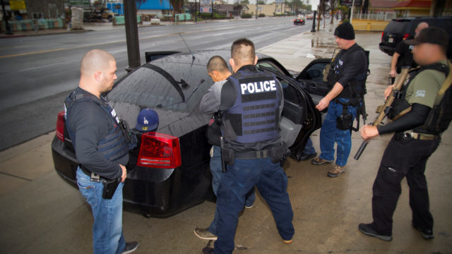 ICE officers detail a suspect