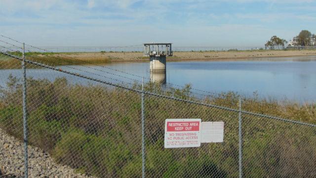The dam at Lake Miramar. Photo by Chris Jennewein