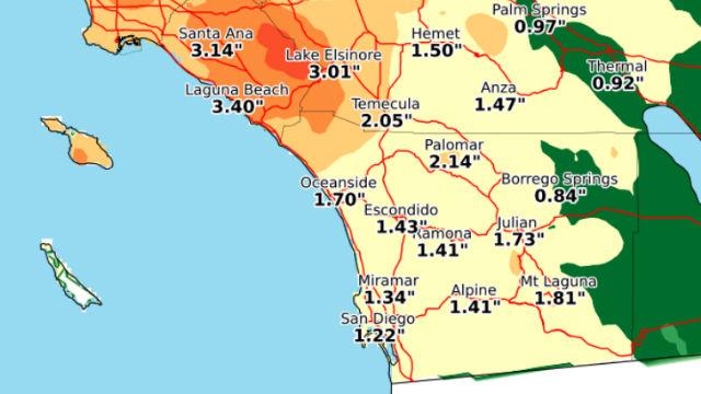 Forecast rainfall totals Thursday through Sunday. Courtesy National Weather Service