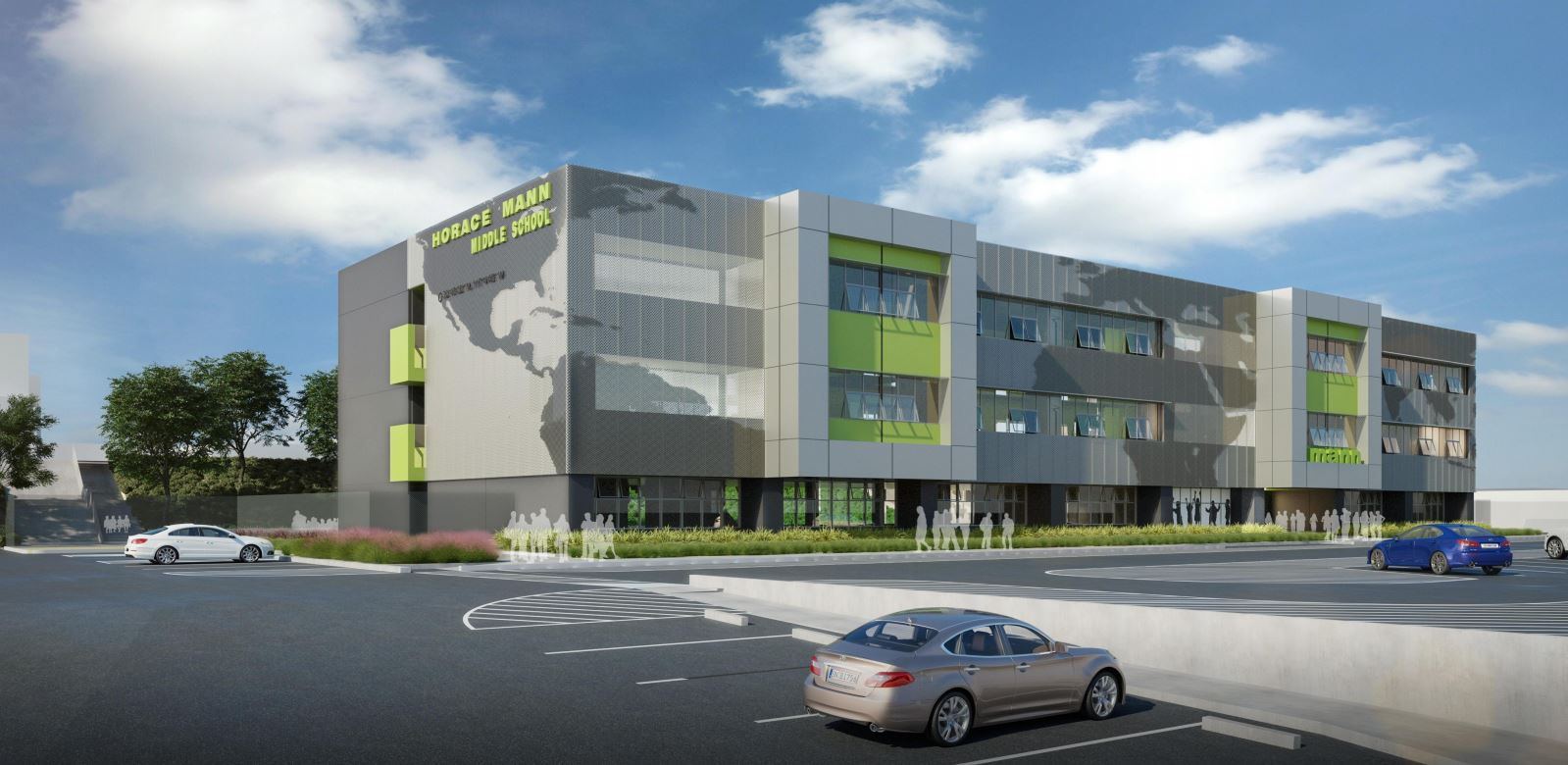 An Artistu0027s Rendering Of The Newly Redesigned Horace Mann Middle School.  Photo: SDUSD