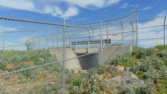 The spillway at Miramar Dam.