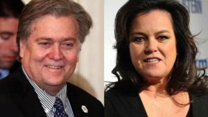 Steve Bannon and Rosie O'Donnell. Image via change.org