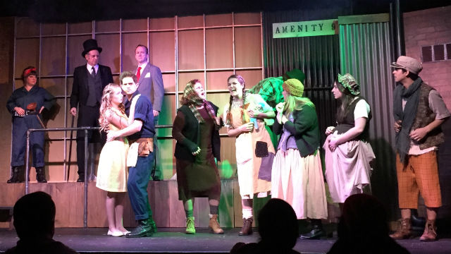 """Cast members of """"Urinetown"""" at the OB Playhouse."""