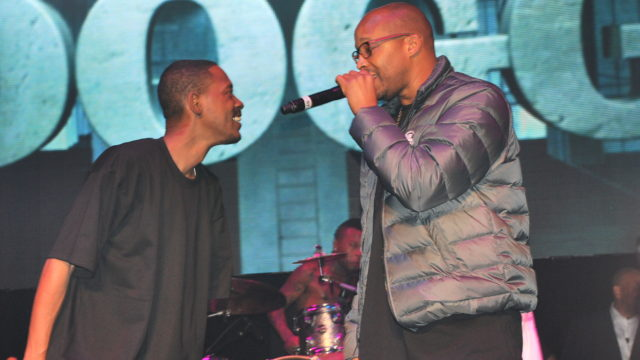 Warren G performing with Kurupt in 2015. Photo via Wikipedia