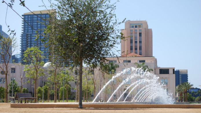 Waterfront park and county administration building