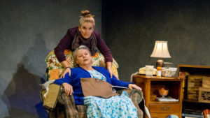 "Samantha Ginn and Annie Hinton in ""Well"" at Diversionary Theatre."