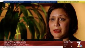 Sandy Naranjo, former UFCW Local 135 organizer. Image via NBC San Diego
