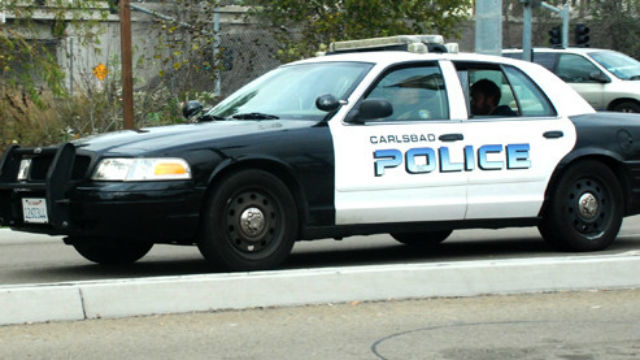 Carlsbad police car.  Photo by Chris Stone