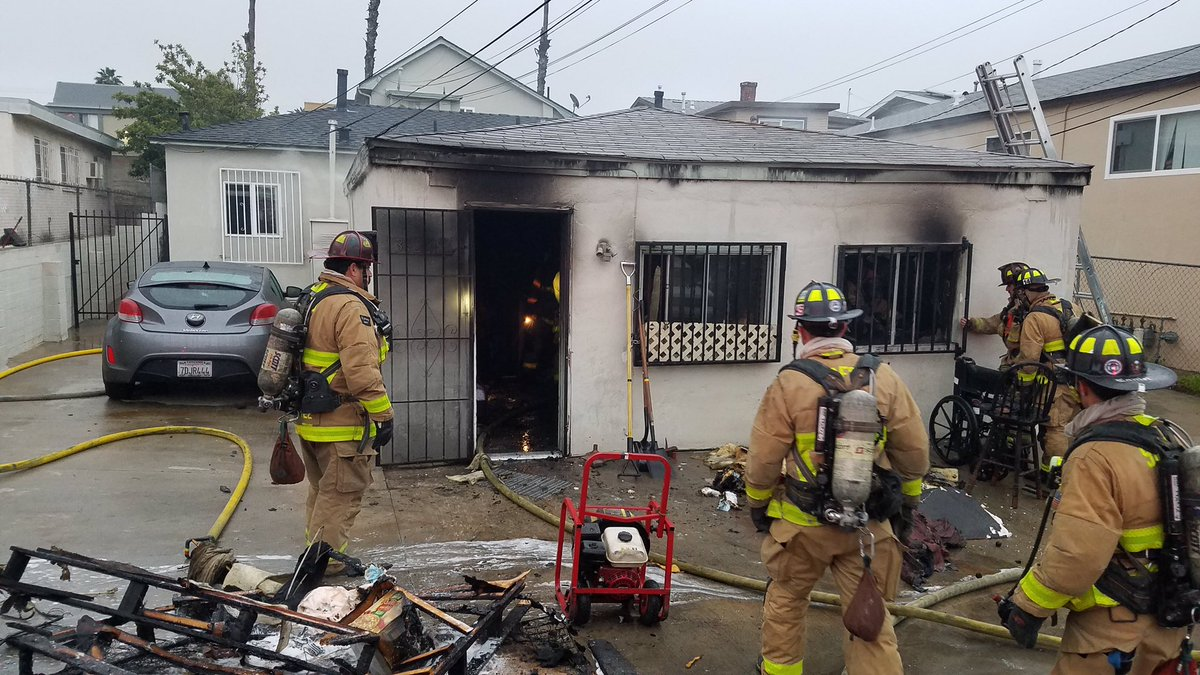 No Injuries As Small House In City Heights Burns Times Of San Diego