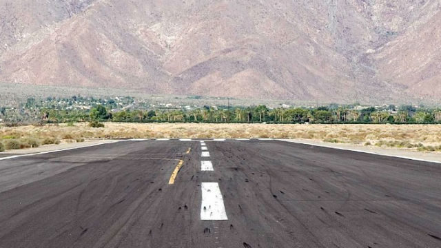 The runway at Borrego Valley Airport. Courtesy San Diego County