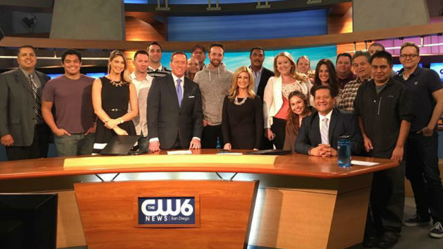 The XETV CW6 news team.