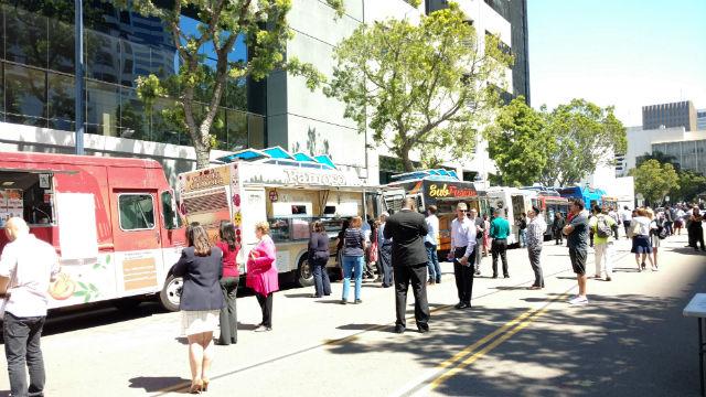 Food trucks in downtown San Diego. Photo by Chris Jennewein