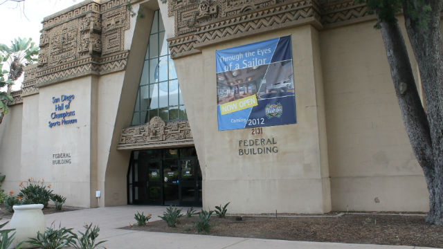 The Hall of Champions in Balboa Park's former Federal Building. Courtesy Breitbard Hall of Fame