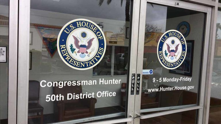 Entrance to Rep. Duncan Hunter office in El Cajon. Photo by Ken Stone